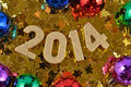 Free 2014 Year Golden Figures Royalty Free Stock Images - 33099359