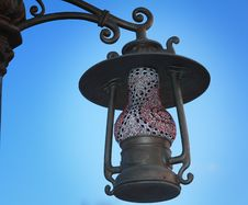 Lantern On The Street Its Original Form As An Antique Lamp. Stock Photo