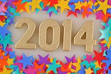 Free 2014 Year Golden Figures Stock Image - 33099371