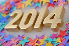 Free 2014 Year Golden Figures Royalty Free Stock Photos - 33099378
