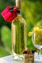 Free Wine With Christmas Presents. Royalty Free Stock Images - 3319879