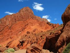 Canyon Red Soil Stock Image