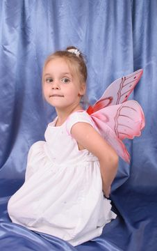 Free Girl As Butterfly Stock Photo - 3311410