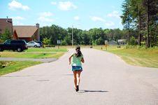 Free Running Girl Stock Images - 3311704
