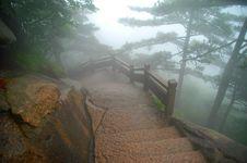 Foggy Morning Mount Huangshan Royalty Free Stock Photos