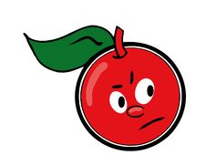 Free Cartoon Cherry Royalty Free Stock Images - 3313009