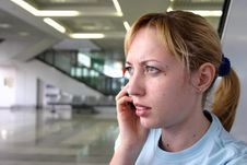 Free Girl At The Airport Stock Photography - 3313292