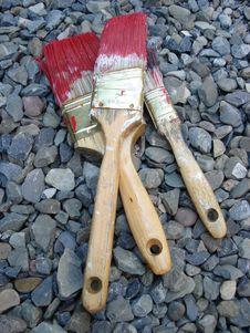 Free Paint Brushes Royalty Free Stock Photos - 3313448