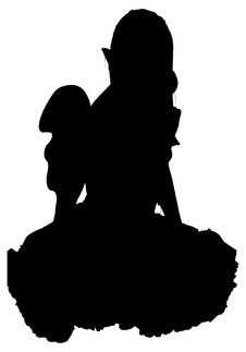 Silhouette With Clipping Path Royalty Free Stock Image