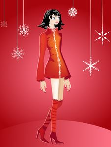 Free Christmas Party Girl Royalty Free Stock Photography - 3315017