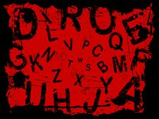Free Letter Grunge Background 3 Stock Photography - 3315192