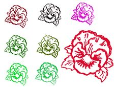 Free Grunge Stamps - Flowers 1 Stock Image - 3315281