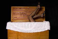 Woman In Box Stock Photos