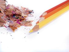 Free Coloured Pencils Royalty Free Stock Image - 3318376