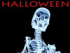 Halloween Xray Bone Royalty Free Stock Images