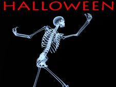 Halloween Xray Bone Stock Photo