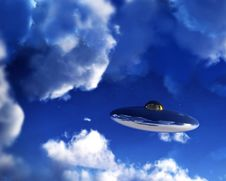 Free UFO In Sky 16 Royalty Free Stock Photos - 3318518
