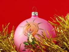 Free Pink Christmas Bauble Stock Photos - 3318883