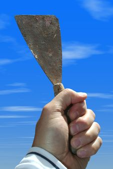 Free Spatula In Hand Stock Photography - 3319022
