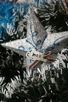 Free Christmas Decoration Star Stock Photo - 3319450