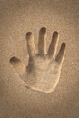 Free Palm&x28;hand&x29; Icon Or Sign Creation In Beach Sand - Concept Photo Royalty Free Stock Photography - 33104887