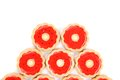 Free Five Rings Of Strawberry Biscuits. Stock Image - 33108181
