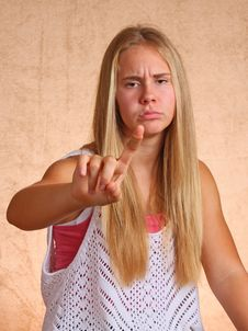 Free Young Girl With Sore Finger Stock Photography - 33102582