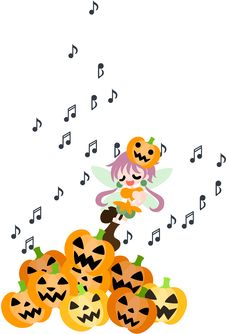 Free A Fairy Of The Halloween Is Singing A Song. Royalty Free Stock Photography - 33102937
