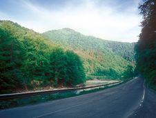 Road Through The Mountain. Stock Photo