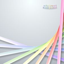 Free Abstract Paper Rainbow Ribbons Royalty Free Stock Photos - 33104028