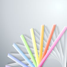 Free Abstract Paper Rainbow Ribbons Royalty Free Stock Image - 33104126