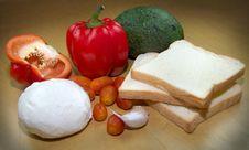 Free Fresh Sandvich Ingredients Royalty Free Stock Image - 33104816