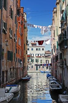 Venetian Canal View Royalty Free Stock Images