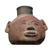 Free Ancient Mayan Vessel Isolated. Royalty Free Stock Image - 33105236