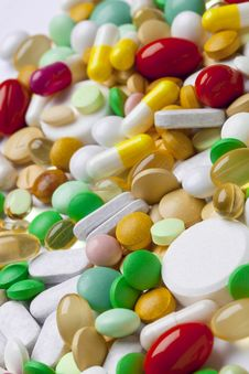 Free Many Colorful Medicines Stock Image - 33105491