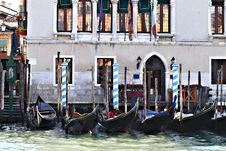Venetian Gondolas Stock Photos