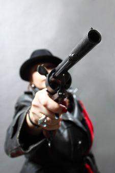 Free Killer Woman Stock Photography - 33107082