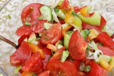 Summer Salad Of Fresh Vegetables. Royalty Free Stock Image