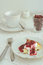 Free Cottage Cheese Baked Pudding With Raspberry Topping Royalty Free Stock Photos - 33109628
