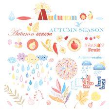 Free Autumn Set Royalty Free Stock Photography - 33110247
