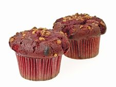 Free Two Muffin Cake Stock Photo - 33110440
