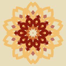 Free Vintage Burgundy With Orange Mosaic Petal Flower Stock Photo - 33111330