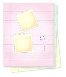 Free Notepad With For Message Writting Stock Photography - 33112432