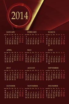 2014 Calendar Stock Image