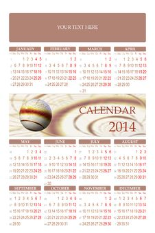 Free 2014 Calendar Royalty Free Stock Photo - 33114805