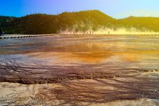Free View At Geyser Lake Royalty Free Stock Photography - 33115947