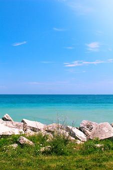 Summer View Of Calm Sea Stock Photos