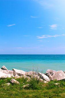 Free Summer View Of Calm Sea Stock Photos - 33115963