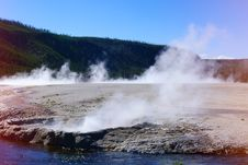 Free View At Geyser Lake. Royalty Free Stock Photography - 33115997