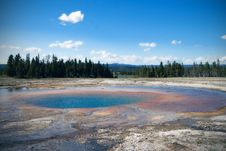 Free View At Geyser Lake Stock Photography - 33116002